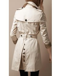 Burberry Brit | Natural Oversize Collar Trench Coat | Lyst
