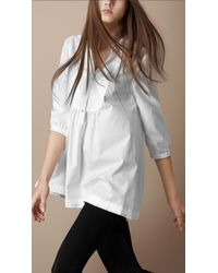 Burberry Brit | White Washed Cotton Bib Front Shirt | Lyst