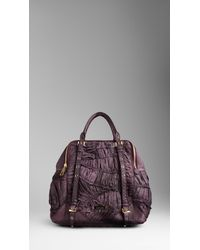 Burberry - Purple Large Ruched Python Bowling Bag - Lyst
