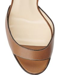 Christian Louboutin | Brown Viola 120 Leather Sandals | Lyst