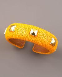 DANNIJO - Studded Stingray Cuff, Yellow - Lyst