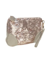 Deux Lux | Pink Rose Gold Sequin Ipanema Wristlet Pouch | Lyst