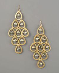 Devon Leigh - Metallic Animal-print-drop Earrings - Lyst