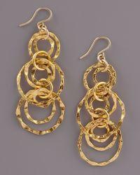 Devon Leigh - Metallic Multi-chain Earrings - Lyst