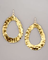 Devon Leigh - Metallic Open Hammered Earrings - Lyst