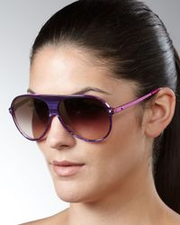 Dior | Pink Tahuata Aviator Sunglasses, Fuchsia | Lyst