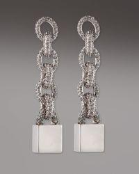 Eddie Borgo - Metallic Pave Padlock Earrings - Lyst
