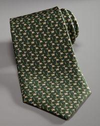 Ferragamo | Green Camel & Cactus Tie for Men | Lyst