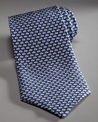 Ferragamo | Blue Elephant Tie, Navy for Men | Lyst