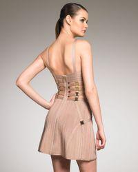 Hervé Léger | Metallic Strip Bandage Dress | Lyst