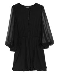 Holy Tee - Black Yves Stretch-jersey and Silk-chiffon Dress - Lyst