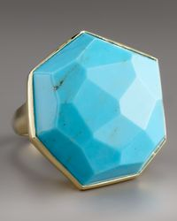 Ippolita - Blue Large Faceted Turquoise Ring - Lyst