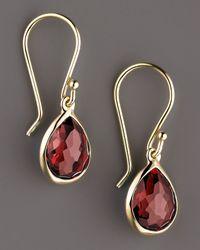 Ippolita - Red Rock Candy Teeny Teardrop Earrings, Garnet - Lyst