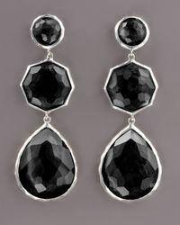 Ippolita | Black Triple-drop Earrings, Onyx | Lyst