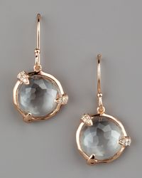 Ippolita | Gray Diamond-detail Rose Drop Earrings, Small | Lyst
