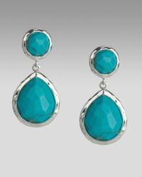 Ippolita - Blue Turquoise Snowman Earrings - Lyst