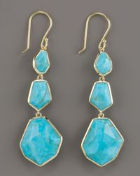 Ippolita | Blue Turquoise Triple Drop Earrings | Lyst