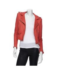IRO | Preorder Moto Colored Leather Jacket | Lyst