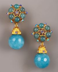 Jose & Maria Barrera | Blue Faceted Jade Drop Earrings | Lyst