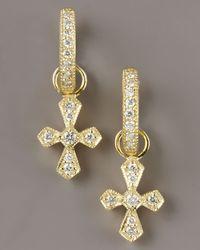 Jude Frances - Metallic Diamond Cross Charms - Lyst