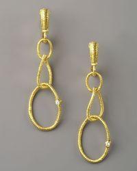 Judith Ripka | Metallic Jubilee Earrings, Small | Lyst