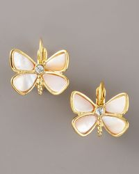 kate spade new york | Metallic Butterfly Earrings | Lyst