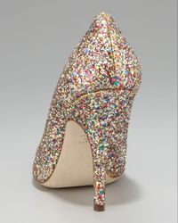 kate spade new york | Multicolor Licorice Glitter Pump | Lyst