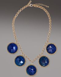 Kendra Scott | Natasha Necklace, Blue Agate | Lyst
