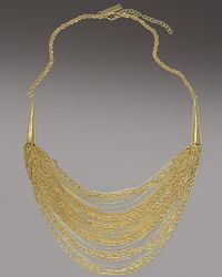 Kendra Scott | Metallic Nasha Necklace, Gold | Lyst