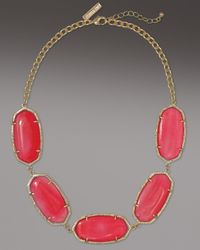 Kendra Scott - Valencia Necklace, Pink Agate - Lyst