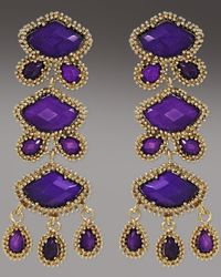Kendra Scott - Metallic Zoe Drop Earrings, Purple Jade - Lyst
