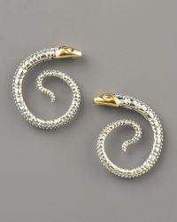 Konstantino - Metallic Snake Earrings - Lyst
