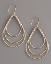 Lana Jewelry | Metallic Three-tiered Hoops | Lyst