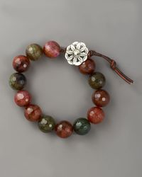 Love Heals - Brown Faceted Fire Agate Bracelet - Lyst