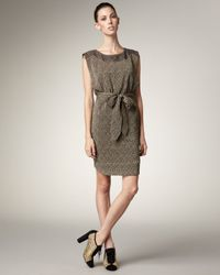 Marc By Marc Jacobs | Black Blossom-print Knit Dress | Lyst