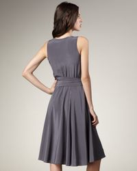 Marc By Marc Jacobs | Gray Belted Silk Dress | Lyst