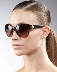 Marc By Marc Jacobs | Brown Rounded Cat Eye Sunglasses | Lyst