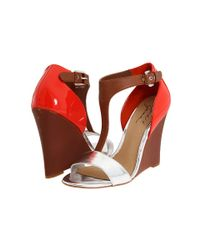 Badgley Mischka | Red Nyomi Wedges | Lyst