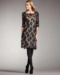 MILLY | Black Celia Lace Dress | Lyst