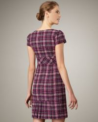 Nanette Lepore | Purple Lilith Metallic Plaid Dress | Lyst