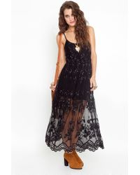 Nasty Gal - Black Willow Maxi Dress - Lyst