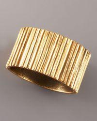 Oscar de la Renta | Metallic Russian Gold Cuff Bracelet | Lyst