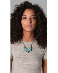 Pamela Love - Blue Tribal Spike Necklace - Lyst