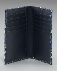 Prada - Blue Printed Saffiano Bifold Wallet for Men - Lyst