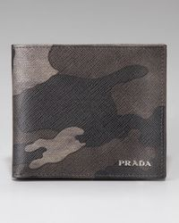 Prada | Gray Fumo Camouflage Wallet for Men | Lyst
