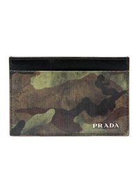 Prada - Green Camo Card Case for Men - Lyst