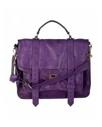 Proenza Schouler | Purple Ps1 Large Leather | Lyst