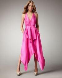 Robert Rodriguez - Pink Handkerchief Dress - Lyst