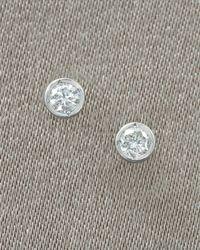 Roberto Coin | Metallic Diamond Stud Earrings | Lyst