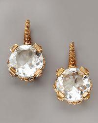 Stephen Dweck - Metallic Faceted Crystal Drop Earrings - Lyst